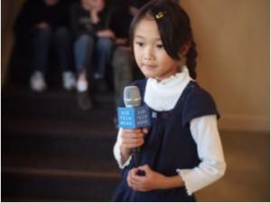 girl holding mic