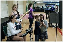 kids at mic